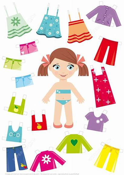 Doll Paper Clothes Summer Craft Printable Crafts