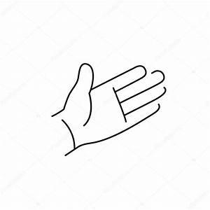 open hand palm gesture — Stock Vector © HonzaHruby #73293105