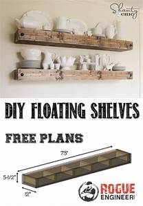 DIY Floating Shelf Free Plans Rogue Engineer