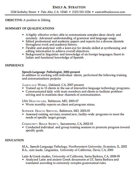 Great Chronological Resume by Free Chronological Resume Exles How To Write A