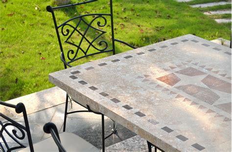 travertin cuisine table de jardin mosaïque en naturelle tampa 160 et