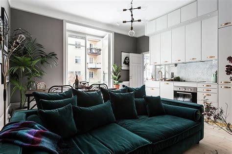 sofa de veludo lindo apartamento um charmoso sof 225 de veludo limaonagua
