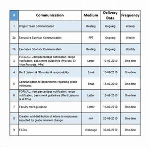 project communication plan template free word documents With communication plan template for project management