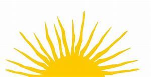 Half Sun With Rays Clipart (17+)