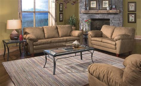 light brown fabric contemporary living room wsolid wood legs