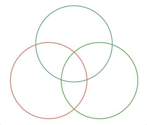 three bubble graphic organizer template triple venn diagram templates 9 free word pdf format