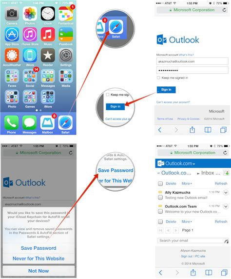 outlook on iphone how to set up microsoft outlook mail calendar contacts