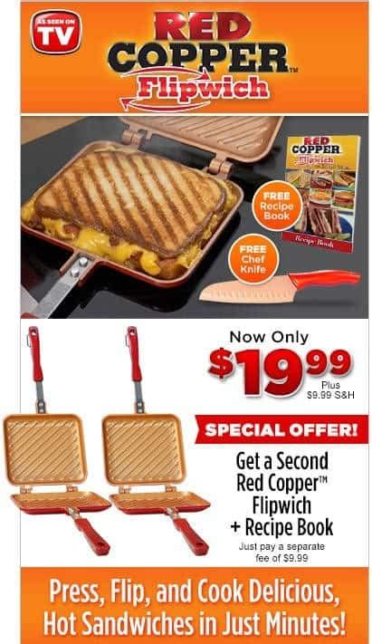flipwich  sided grill cooktop sandwich  panni maker