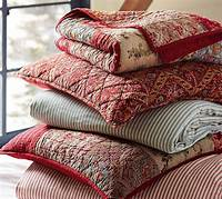 pottery barn quilt Georgia Patchwork Quilt & Sham - Red   Pottery Barn