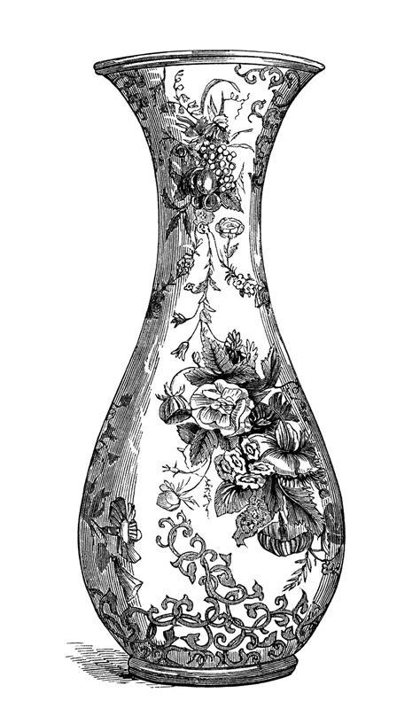 Black And White Vase by Black And White Clip Free Vintage Image Floral Vase