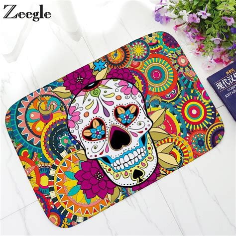 Skull Doormat by Aliexpress Buy Zeegle Doormat For Entarnce Door