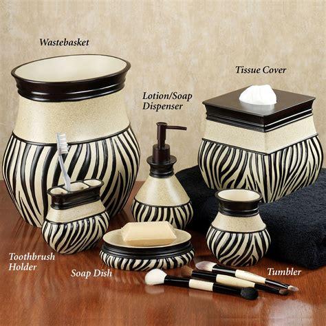 zebra print bathroom decor zuma zebra bath accessories