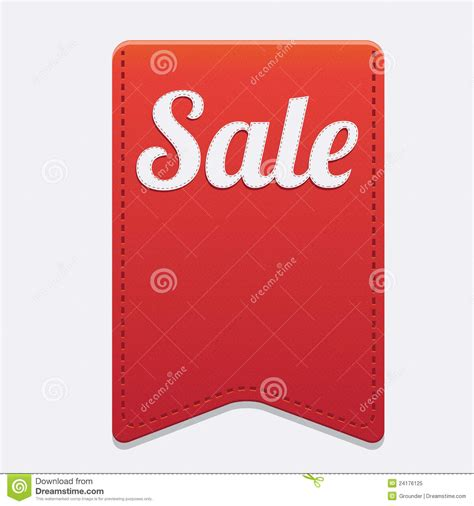 vector red big sale ribbon on grey background royalty