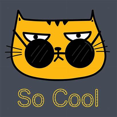 Cat Cool Sunglasses Vector Illustration Clipart Hipster