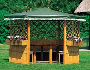 Pavillon Für Garten : pavillon promadino marburg 6 eck holz pavillon vom ~ Michelbontemps.com Haus und Dekorationen
