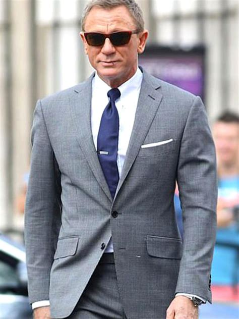 James Bond No Time To Die Checkered Grey Suit - Just ...