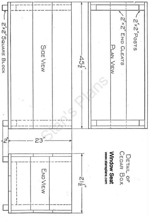 Window Seat Plans - All Free Plans at Stans Plans