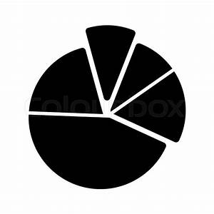 Pie Chart Diagram Vector Icon  Black