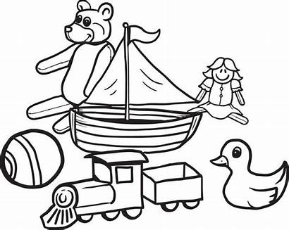 Coloring Toys Toy Pages Christmas Box Action