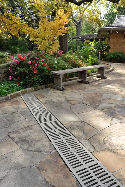 outdoor drainage systems channel drainage systems andys sprinklers fort worth dallas texas