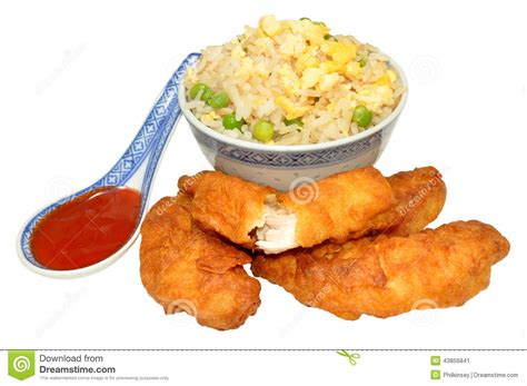 egg battered chicken sweet and sour chinese battered chicken stock photo image 43856841