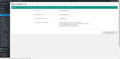 Eform Form Builder by Creating Your First Form Through Eform Working With Form