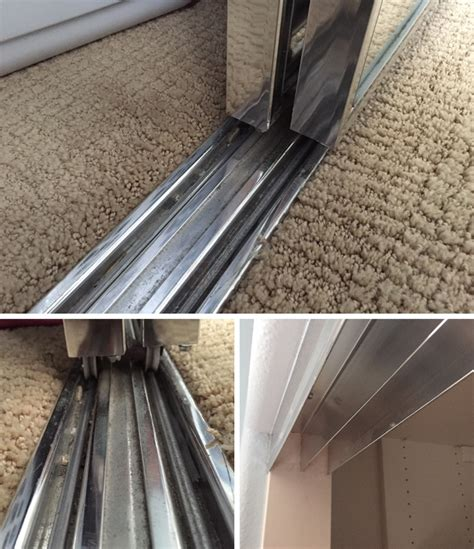 looking for a 3 track bottom track for mirror closet doors