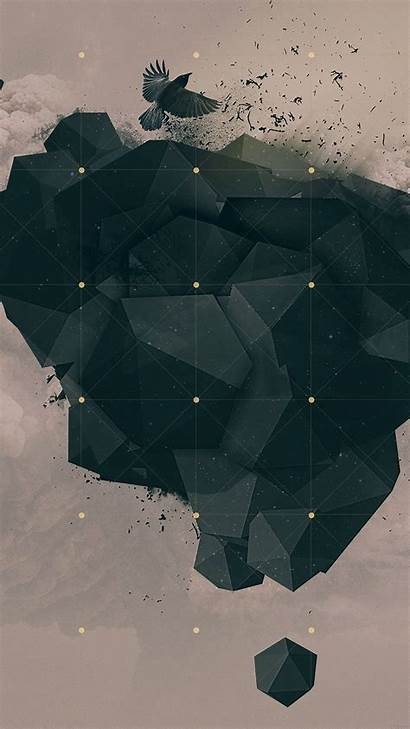 Wallpapers Iphone Geometric Dark Abstract Pattern Awesome