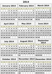 Image gallery 2014 calendar 12 month for 2014 full year calendar template