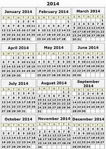 Image gallery 2014 calendar 12 month for 2014 full year calendar template