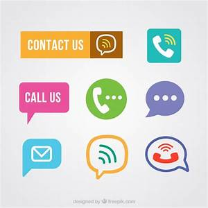 Contact buttons pack Vector | Free Download