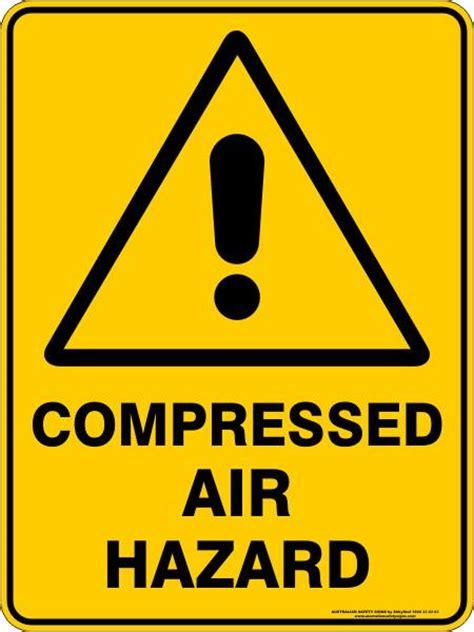 compressed air hazard australian safety signs