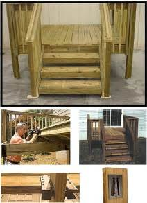 Wooden Mobile Home Steps Kits