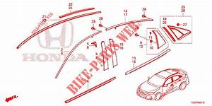 Front Grille  Molding For Honda Cars Civic 1 0 Mid 5 Doors