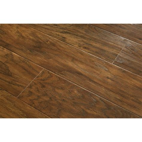 lowes flooring allen roth shop allen roth 4 85 in w x 3 93 ft l toasted chestnut handscraped laminate wood planks at