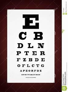 Optical Eye Test Chart Eye Test Letter Poster Royalty Free Stock Image Image