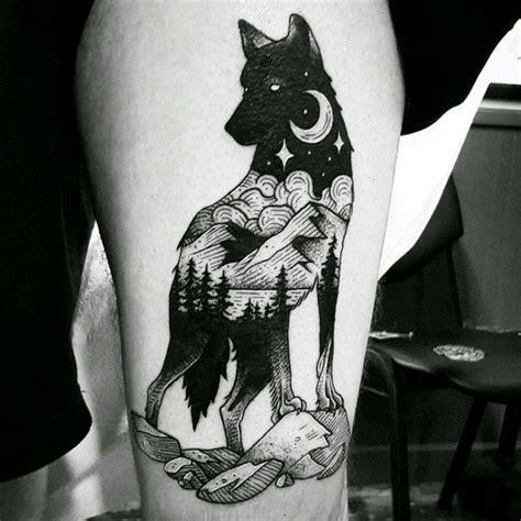 ideas de tatuajes de lobos diferentes disenos