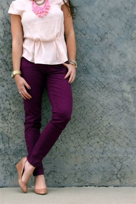 Plum color Pants and Purple skinny jeans on Pinterest