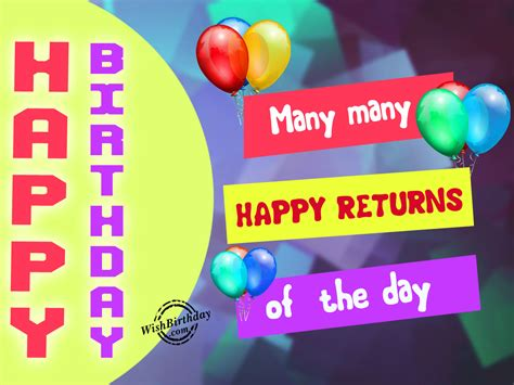Many Happy Returns by Birthday Wishes With Balloons Birthday Images Pictures