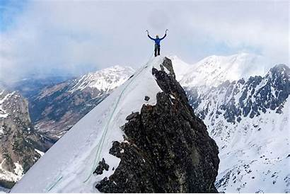 Mountain Climb Person Dangerous Footage Adrenaline Climbing