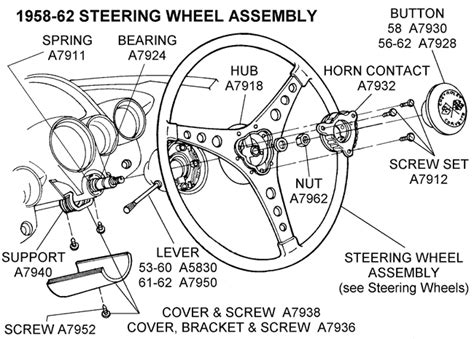 steering wheel assembly diagram view chicago