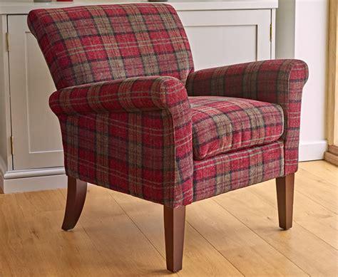 Warrenpoint Claret Red Tartan Armchair