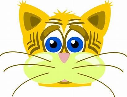 Sad Cat Tiger Clip Onlinelabels Svg