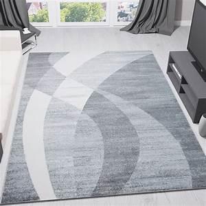 Teppich Grau Weiß Gestreift : teppich modern design grau wei geschwungene streifen kurzflor top preis ebay ~ Markanthonyermac.com Haus und Dekorationen