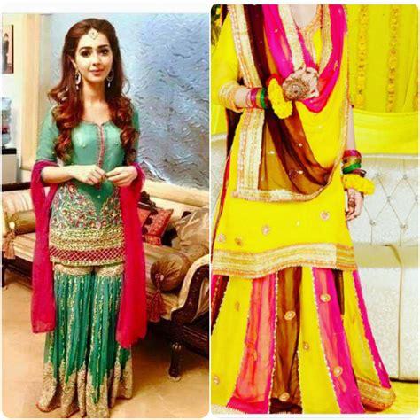 Mehendi Dresses For Asian Brides 2016-2017   Stylo Planet