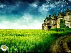 Beautiful Big House Sc...Beautiful Nature Scenery Wallpapers