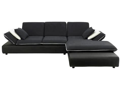 canape d angle noir et blanc photos canapé d 39 angle convertible noir et blanc