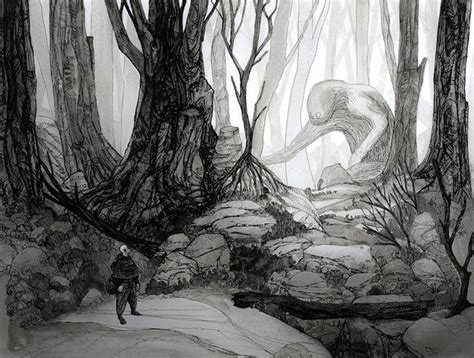 mysterious monochromatic drawings xcitefunnet
