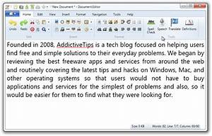 documenteditor feature rich eye candy word processor With free word document editing software