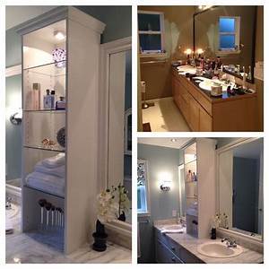 Before and after of master bath vanity. Goodbye oversized ...